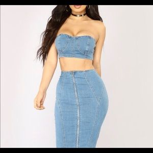 Fashion Nova Denim Set